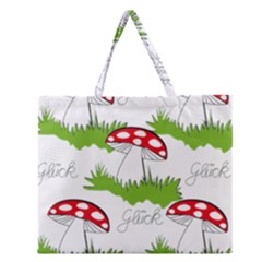 Mushroom Luck Fly Agaric Lucky Guy Zipper Large Tote Bag
