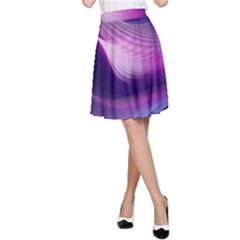 Abstract Purple1 A-Line Skirt
