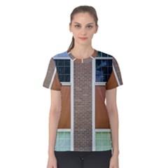 Pattern Symmetry Line Windows Women s Cotton Tee