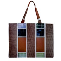 Pattern Symmetry Line Windows Zipper Mini Tote Bag