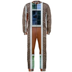 Pattern Symmetry Line Windows Onepiece Jumpsuit (men)