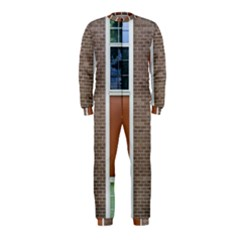 Pattern Symmetry Line Windows Onepiece Jumpsuit (kids)