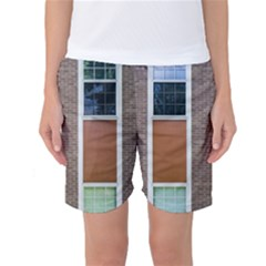 Pattern Symmetry Line Windows Women s Basketball Shorts