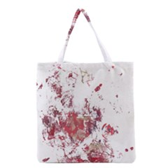 Abstract Reds Grocery Tote Bag