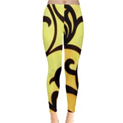 Texture Pattern Beautiful Bright Leggings