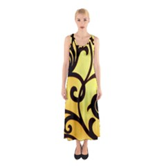 Texture Pattern Beautiful Bright Sleeveless Maxi Dress