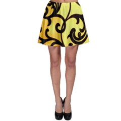 Texture Pattern Beautiful Bright Skater Skirt