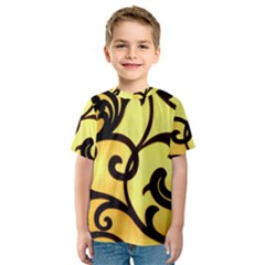 Texture Pattern Beautiful Bright Kids  Sport Mesh Tee