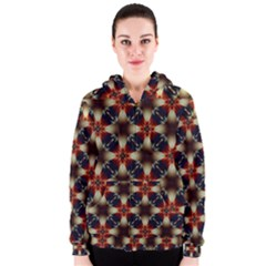 Kaleidoscope Image Background Women s Zipper Hoodie