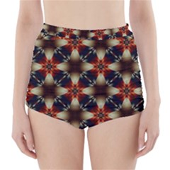 Kaleidoscope Image Background High Waisted Bikini Bottoms