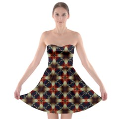 Kaleidoscope Image Background Strapless Bra Top Dress