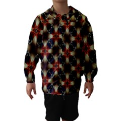 Kaleidoscope Image Background Hooded Wind Breaker (kids)