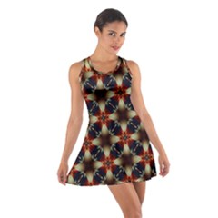 Kaleidoscope Image Background Cotton Racerback Dress