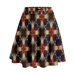 Kaleidoscope Image Background High Waist Skirt