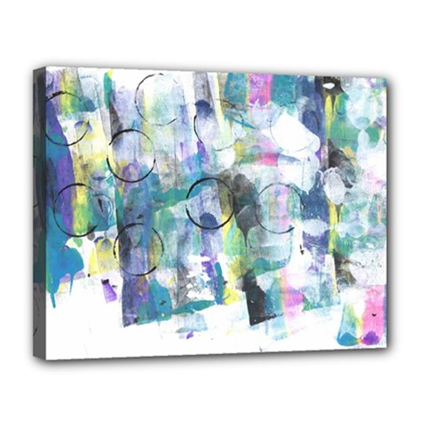 Background Color Circle Pattern Canvas 14  X 11