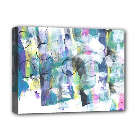 Background Color Circle Pattern Deluxe Canvas 16  x 12