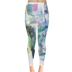 Background Color Circle Pattern Leggings