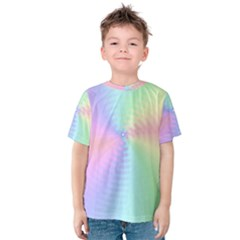 Dilute Rainbow Vortex Bg Kids  Cotton Tee