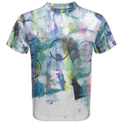 Background Color Circle Pattern Men s Cotton Tee