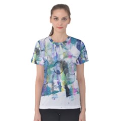 Background Color Circle Pattern Women s Cotton Tee