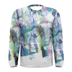 Background Color Circle Pattern Men s Long Sleeve Tee