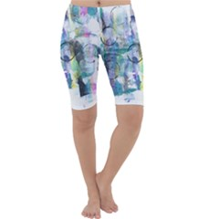Background Color Circle Pattern Cropped Leggings
