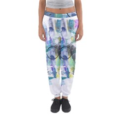 Background Color Circle Pattern Women s Jogger Sweatpants