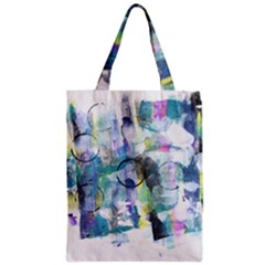 Background Color Circle Pattern Zipper Classic Tote Bag