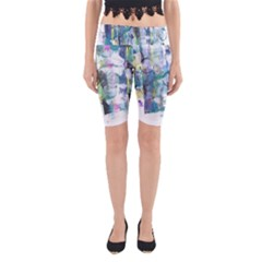 Background Color Circle Pattern Yoga Cropped Leggings