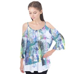 Background Color Circle Pattern Flutter Tees