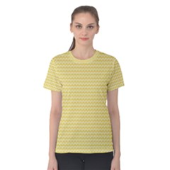 Pattern Yellow Heart Heart Pattern Women s Cotton Tee