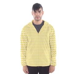 Pattern Yellow Heart Heart Pattern Hooded Wind Breaker (men)