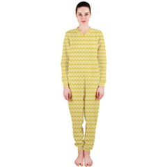 Pattern Yellow Heart Heart Pattern Onepiece Jumpsuit (ladies)