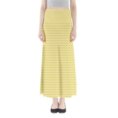 Pattern Yellow Heart Heart Pattern Maxi Skirts