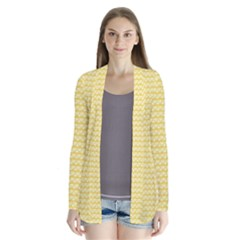 Pattern Yellow Heart Heart Pattern Cardigans