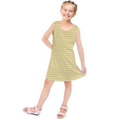 Pattern Yellow Heart Heart Pattern Kids  Tunic Dress