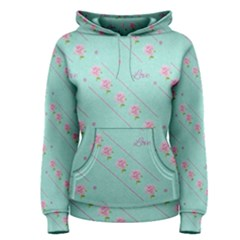 Flower Pink Love Background Texture Women s Pullover Hoodie