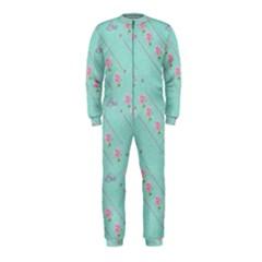 Flower Pink Love Background Texture Onepiece Jumpsuit (kids)