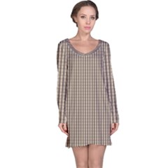 Pattern Background Stripes Karos Long Sleeve Nightdress