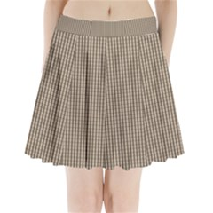 Pattern Background Stripes Karos Pleated Mini Skirt