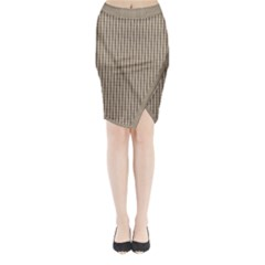 Pattern Background Stripes Karos Midi Wrap Pencil Skirt