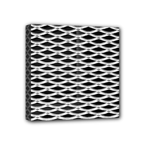 Expanded Metal Facade Background Mini Canvas 4  X 4
