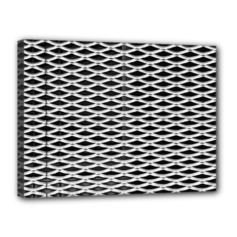 Expanded Metal Facade Background Canvas 16  x 12