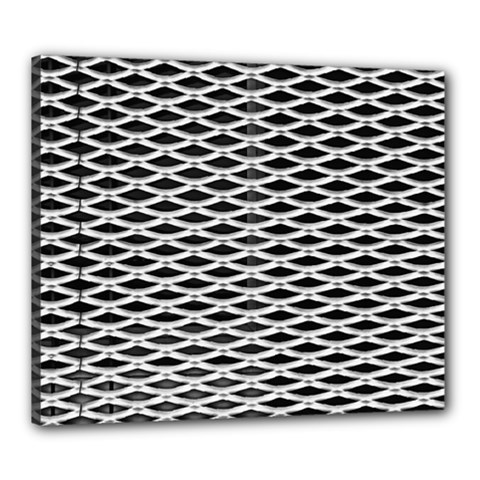 Expanded Metal Facade Background Canvas 24  x 20