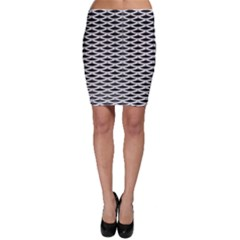 Expanded Metal Facade Background Bodycon Skirt