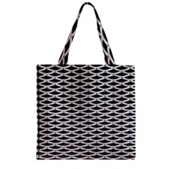 Expanded Metal Facade Background Zipper Grocery Tote Bag