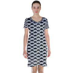 Expanded Metal Facade Background Short Sleeve Nightdress