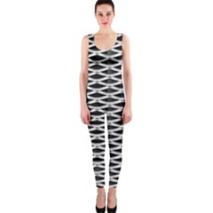 Expanded Metal Facade Background OnePiece Catsuit