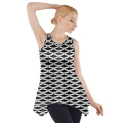Expanded Metal Facade Background Side Drop Tank Tunic
