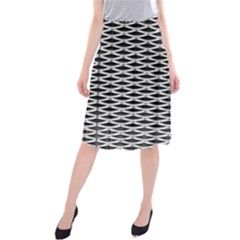 Expanded Metal Facade Background Midi Beach Skirt